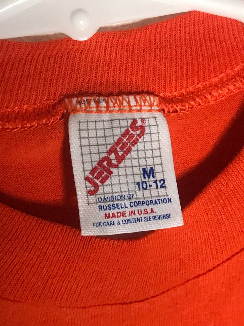 3f93871d331ea Vintage 80's Boy Scouts of America Orange Jerzees graphic tee