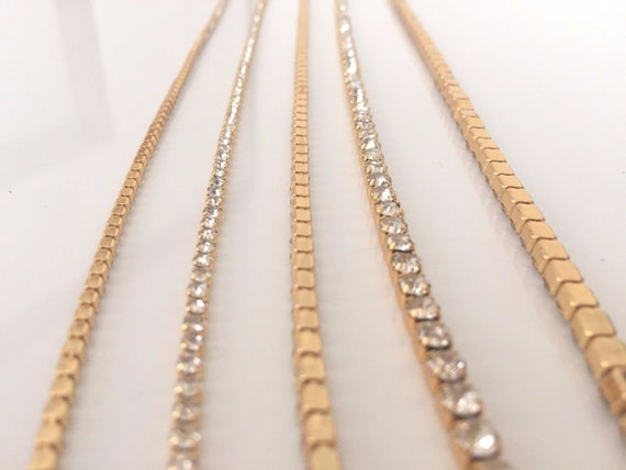 2 Metres SS6 Chain Rope Rhinestone Trim Diamante Silver Crystal Necklace Sewing