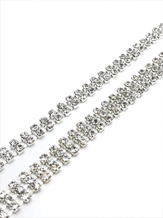 1M Diamante//Rhinestone Silver Crystal Chain Wedding Cake Fabric Arts Crafts UK