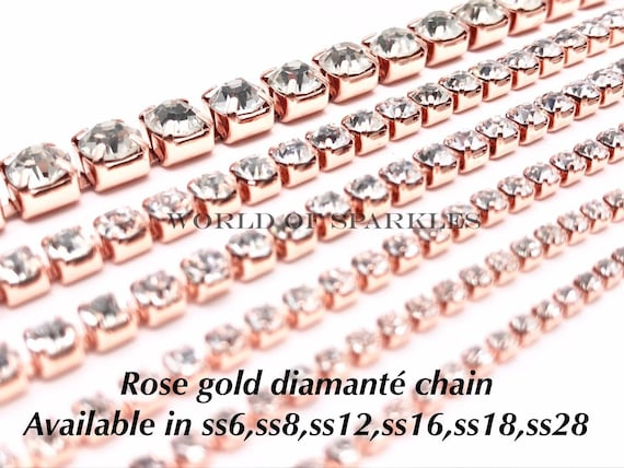 Trimming for Jewellery /& Garment Selections of SS12 Diamante Rhinestone Chain