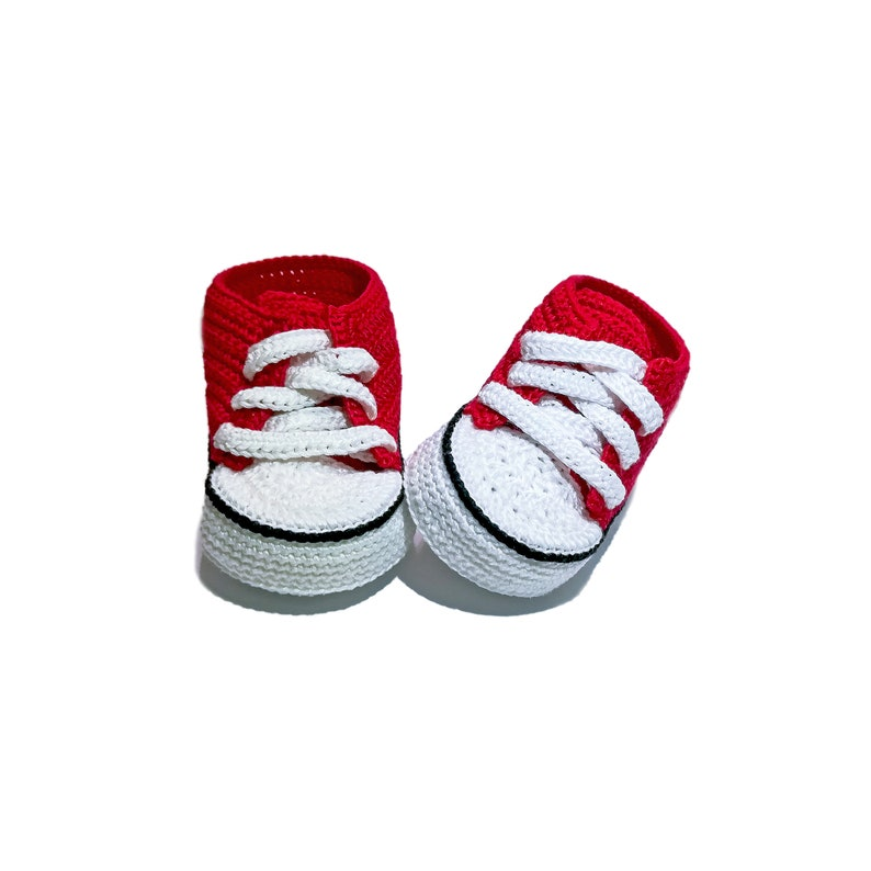c2bddf61fb4d Crochet Converse All star baby booties crocheted booties for