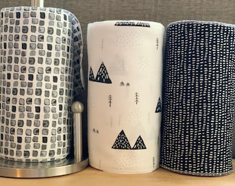 """Paperless """"Paper"""" Towels 12- 10x14"""" 1- ply /Moroccan Decor/ Paperless Kitchen/ Reusable Cloth Towels with Zero Waste"""