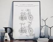 Stingray Bicycle 1968 Patent Print, Poster Print, Bicycling Enthusiast Gifts, Stingray Bike, Bike, Cyclist Poster, Cycle Decor, QP690