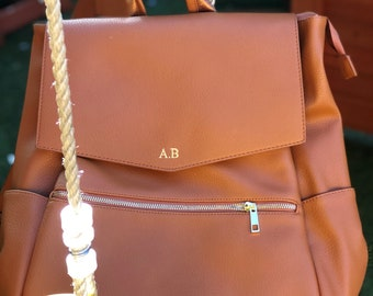 aad7d7f6b693d Personalised changing bag, initial faux leather changing bag,