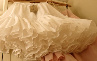Full White Cotton Petticoat Skirt