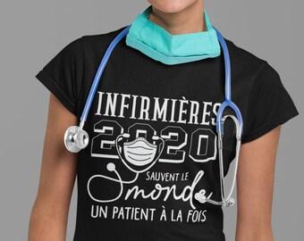 Infirmières 2020 sauvent le monde un patient à la fois !! T-Shirt col rond