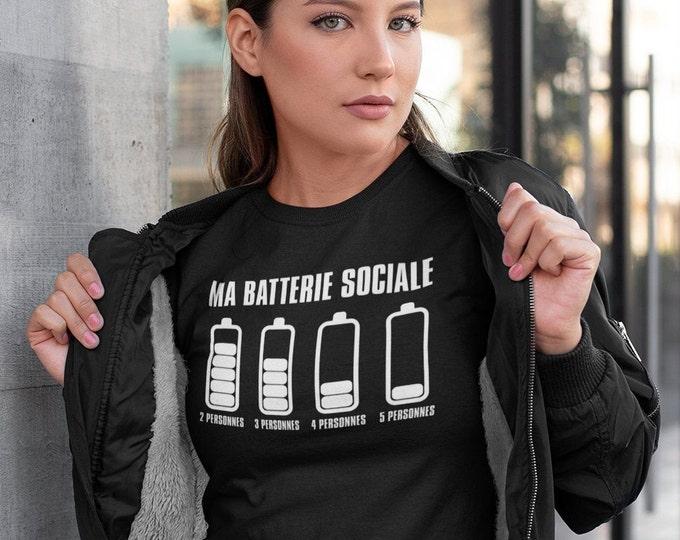Ma batterie sociale!! T-Shirt col rond manche courte