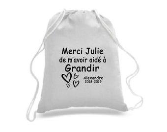 Cadeau enseignant(e) et/ou éducateur(trice) Personnalisable - Sac à cordons / sac à dos / sac four-tout / sac de sport / sac à souliers