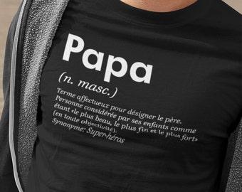 Papa définition dictionnaire - cadeau fête des pères - T-Shirt Unisex Ultra Coton