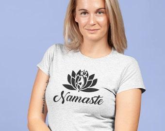 Namaste yoga - T-Shirt pour femmes à col rond - manches courtes