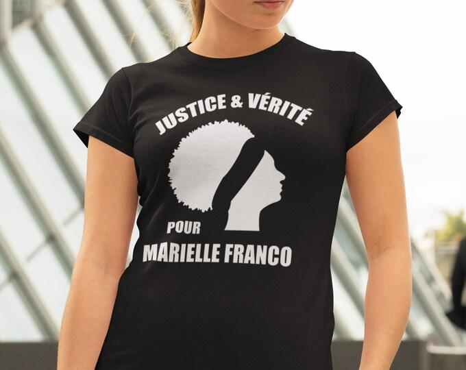 Justice et vérité pour Marielle Franco !! T-Shirt col rond