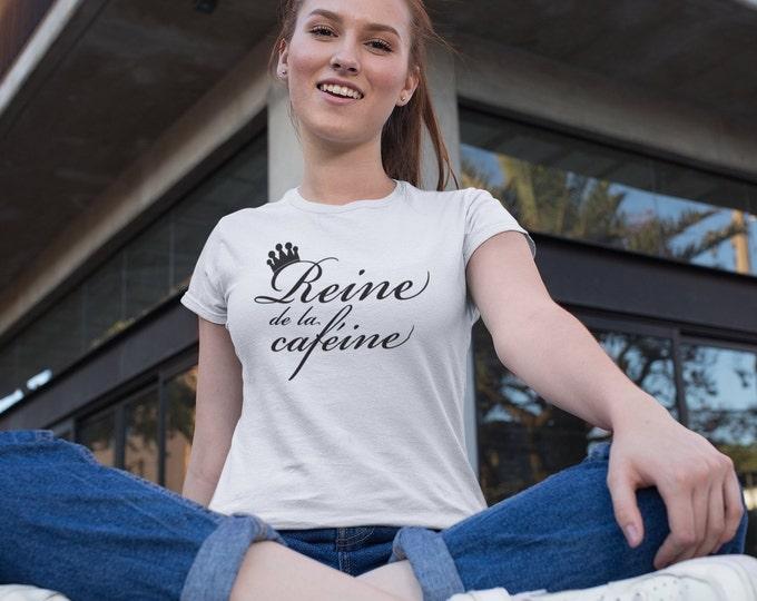 Reine de la caféine  - T-Shirt à col rond - manches courtes
