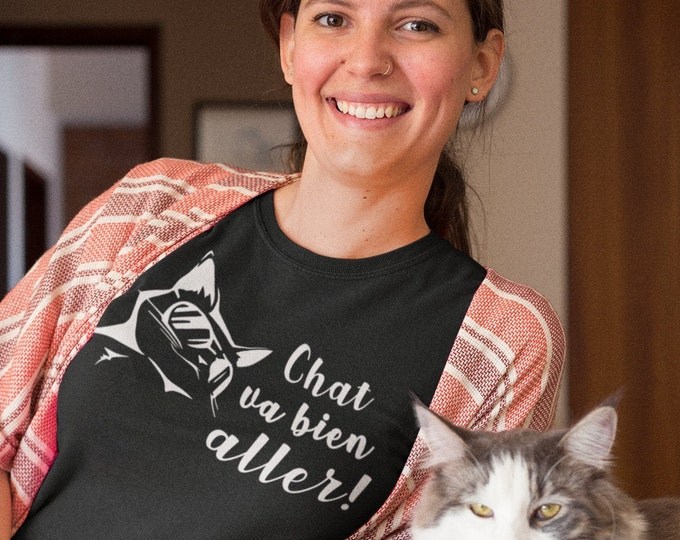Chat va bien aller! !! T-Shirt col rond