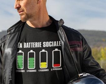 Ma batterie sociale!- T-Shirt Unisex Ultra Coton - Homme - humour