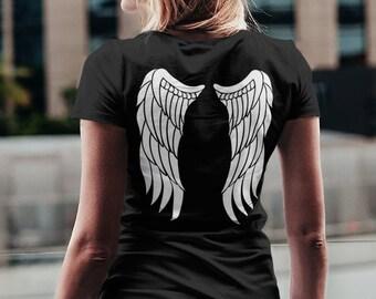 T-Shirt Angel - ailes d'ange - angel wings - T-Shirt à col rond - manches courtes - impression sur deux côtés