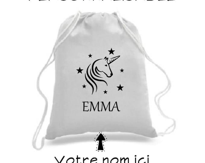 Sac à cordons / sac à dos / sac four-tout / personnalisable / sac de sport / sac à souliers