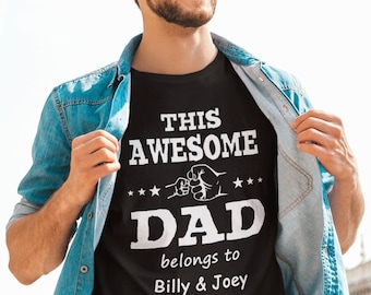 This awesome Dad- fathers day gift - T-Shirt Unisex Ultra Coton- Personnalisable