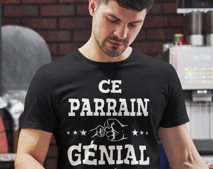 Ce Parrain génial appartient à - cadeau fête - T-Shirt Unisex Ultra Coton- Personnalisable