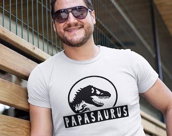 Papasaurus - T-Shirt Unisex Ultra Coton - Cadeau papa- Thème Jurassic Park