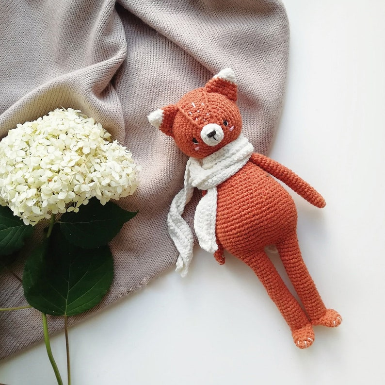 PDF toy pattern Amigurumi fox tutorial DIY amigurumi pattern Crochet fox amigurumi pattern Crochet toy pattern