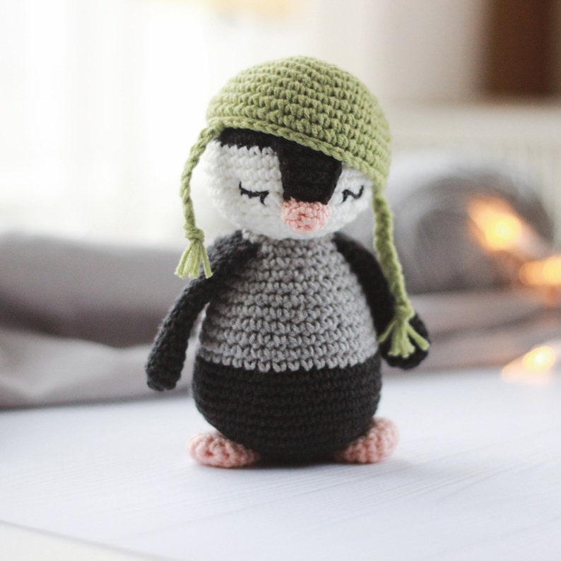 Crochet Penguin Pattern Crochet Animal Pattern Stuff Animal Etsy