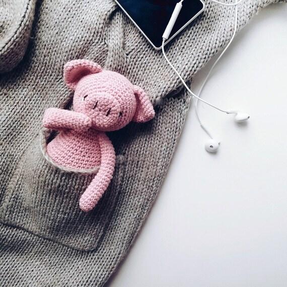 10*6 CM Cute Pig Baby Eco friendly Dolls Crochet Amigurumi Cartoon ... | 570x570
