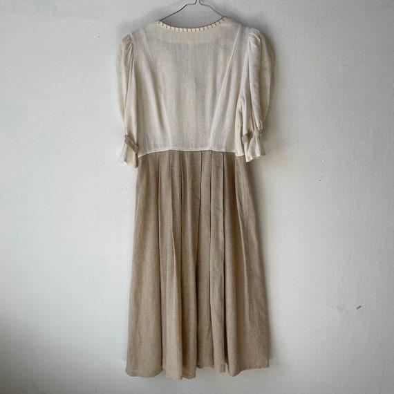 Vintage Linen Austrian Dress, Cottagecore dress w… - image 8