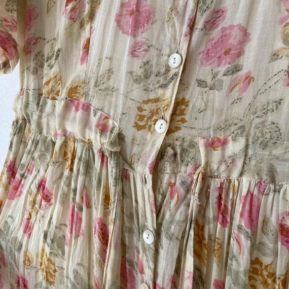 Vintage Cotton Floral Dress, Cottagecore dress - image 9