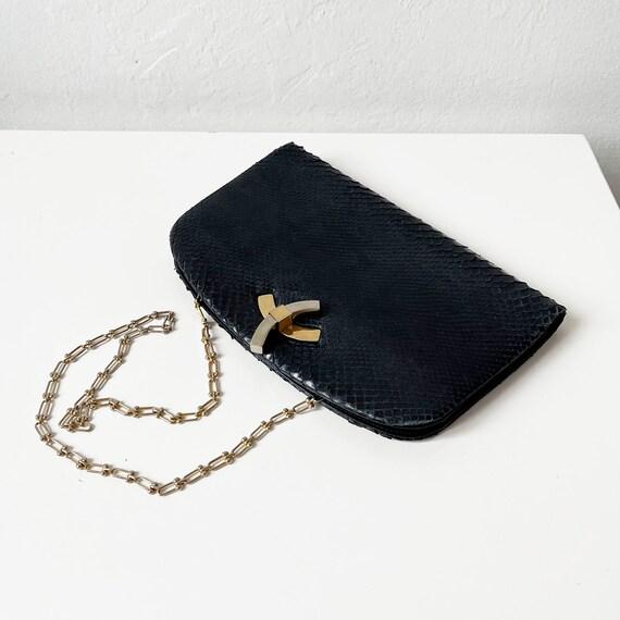 Vintage Black Snakeskin Purse - image 3