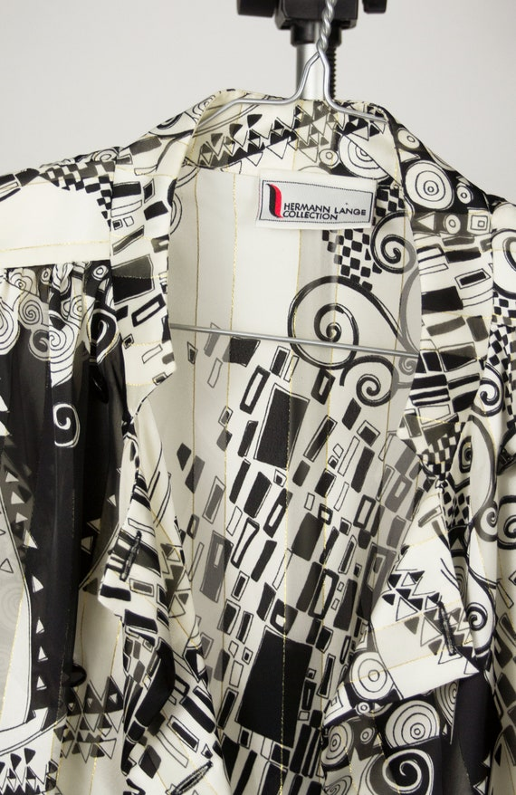 Vintage Abstract Blouse | Statement Blouse | 80's… - image 8