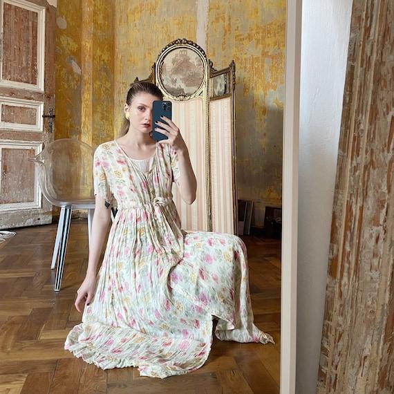 Vintage Cotton Floral Dress, Cottagecore dress - image 1