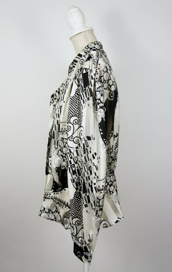 Vintage Abstract Blouse | Statement Blouse | 80's… - image 4
