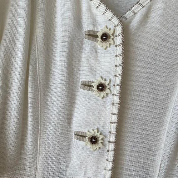 Vintage Linen Austrian Dress, Cottagecore dress w… - image 7