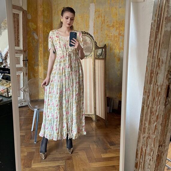 Vintage Cotton Floral Dress, Cottagecore dress - image 6
