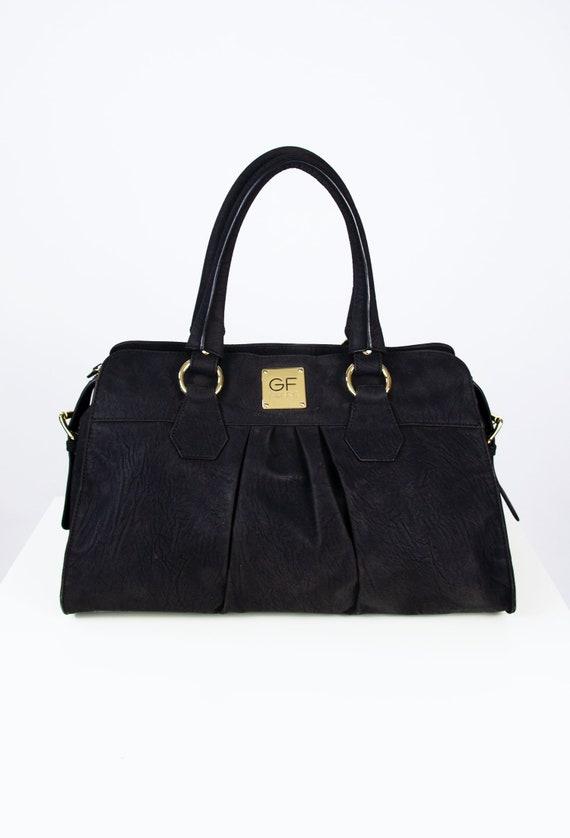 GF FERRE Handbag | Ferre Bag | Black Faux Leather