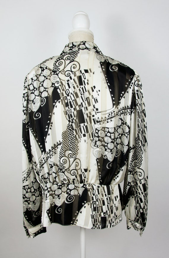 Vintage Abstract Blouse | Statement Blouse | 80's… - image 5