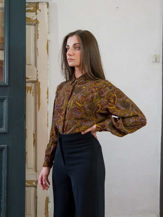 Vintage Cacharel Liberty Blouse, Paisley Shirt