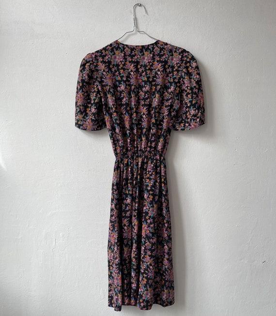 1980s Silk Floral Dress, Cottagecore Dress - image 8