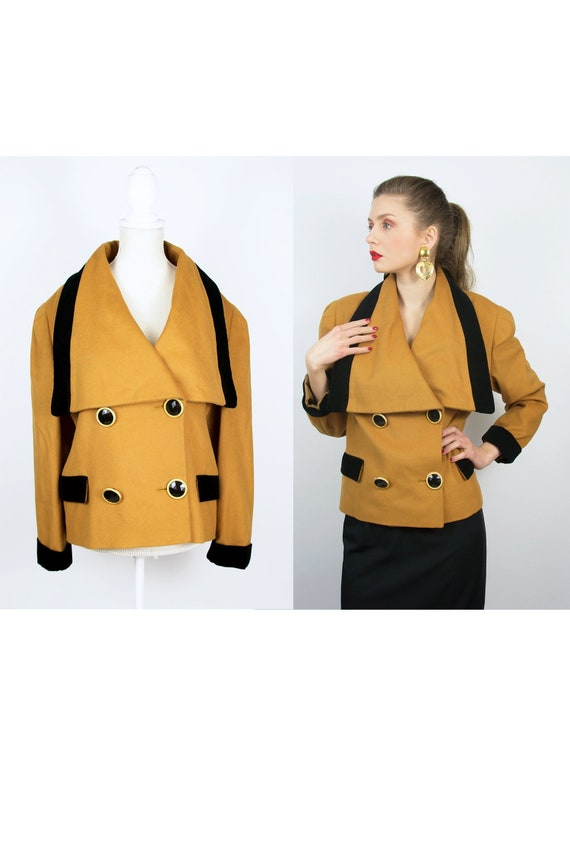 Vintage Camel Jacket | Double Breast Jacket Mustar