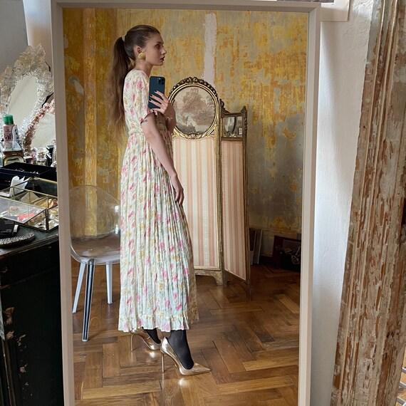 Vintage Cotton Floral Dress, Cottagecore dress - image 5