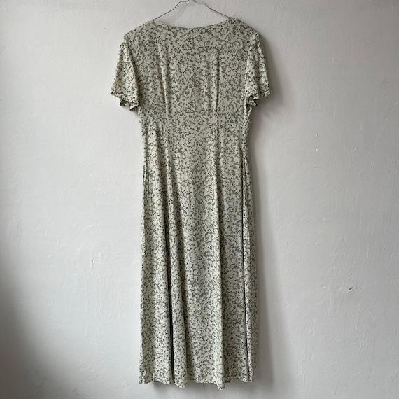 Vintage Floral button Down Dress, Cottagecore dre… - image 9