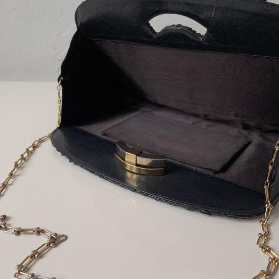 Vintage Black Snakeskin Purse - image 7