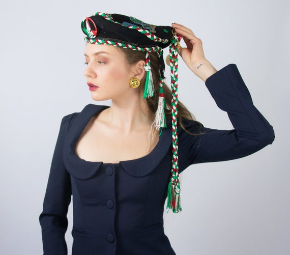 Vintage Beret Hat | Italian Beret Hat Military Be… - image 2