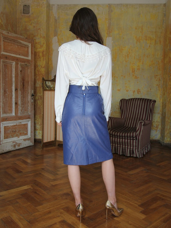 Vintage White Ruffle Blouse, Victorian Style Top - image 7