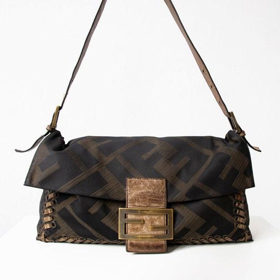 Vintage FENDI Zucca Bag, 90s Fendi Mama Baguette S