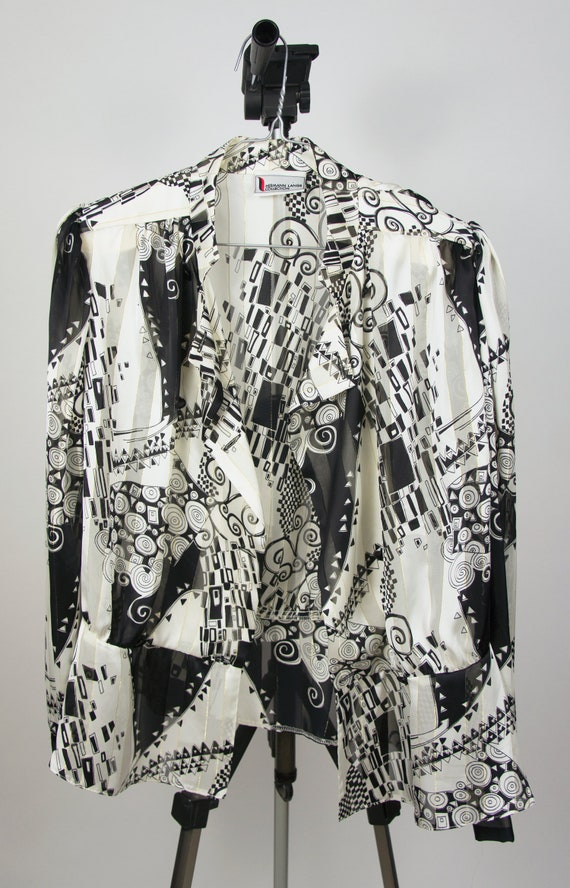 Vintage Abstract Blouse | Statement Blouse | 80's… - image 6