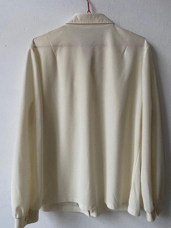 Vintage White Ruffle Blouse, Victorian Blouse - image 6