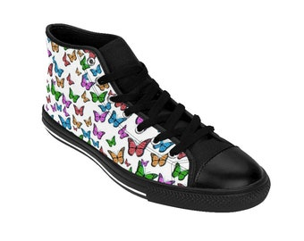 73495af8953d6e Colorful Butterfly Pattern Shoes