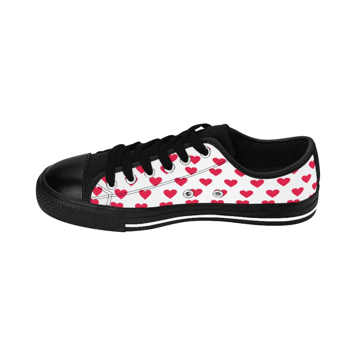 rojo  Hearts Mujer Low Top Zapatillas Mujer Low Tops Canvas Zapatos Valentine's Day Gift for Her Hearts Heart Zapatos Gifts for Her 92b65c