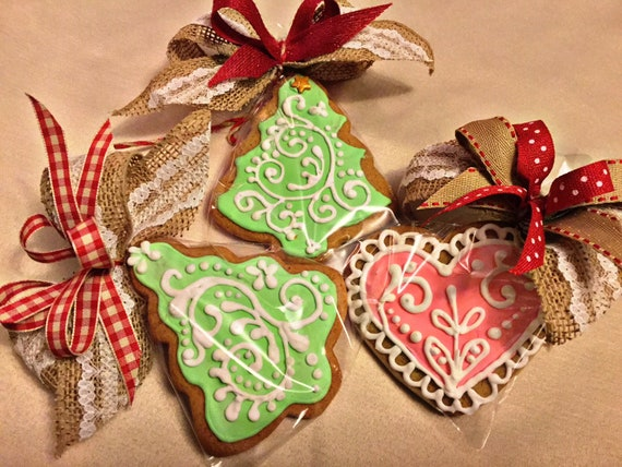 Polish Traditional Gingerbread Cookies 3 Heart Shaped Cookies Each Approx 3x3 Inch Free Shipping